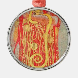 Ornement Rond Argenté Médecine de Gustav Klimt
