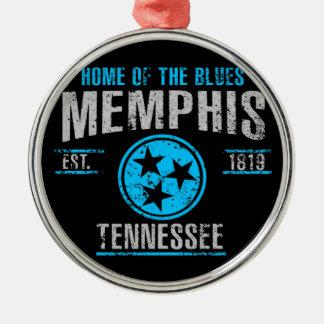 Ornement Rond Argenté Memphis