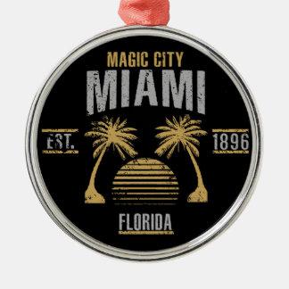 Ornement Rond Argenté Miami