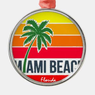 Ornement Rond Argenté Miami Beach