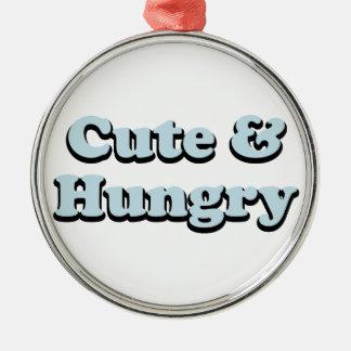 Ornement Rond Argenté Mignon et affamé