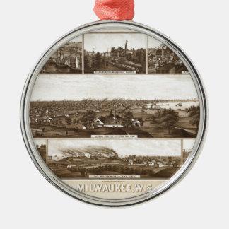 Ornement Rond Argenté Milwaukee 1882