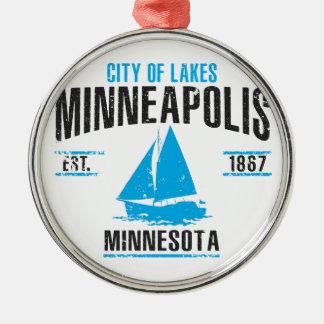 Ornement Rond Argenté Minneapolis