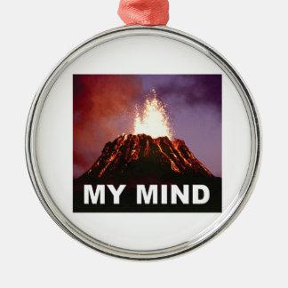 Ornement Rond Argenté mon esprit de volcan