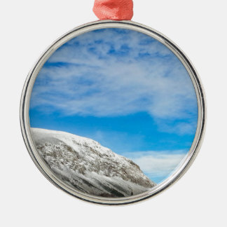Ornement Rond Argenté Montagnes blanches New Hampshire
