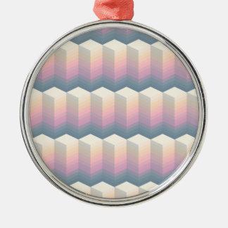 Ornement Rond Argenté motif ovale
