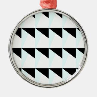 Ornement Rond Argenté motif trichromatique