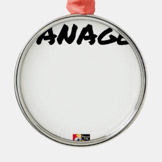 Ornement Rond Argenté NANAGER - Jeux de mots - Francois Ville