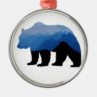Ornement Rond Argenté National_Park_bear