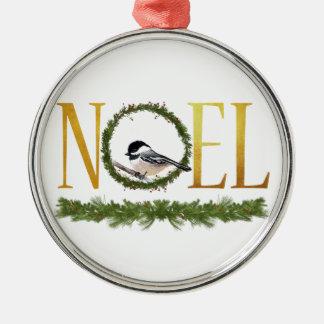 Ornement Rond Argenté Noel
