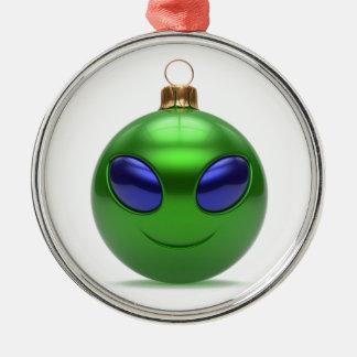 Ornement Rond Argenté Noël étranger