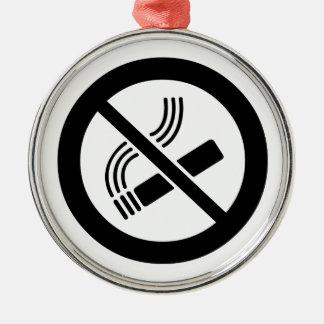 Ornement Rond Argenté Non-fumeurs