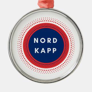Ornement Rond Argenté Nordkapp Norvège