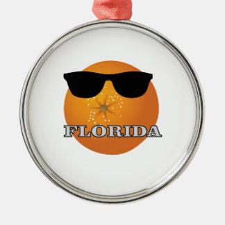 Ornement Rond Argenté nuances de la Floride