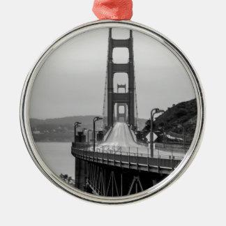 Ornement Rond Argenté Obscurité unique de vue de San Francisco golden