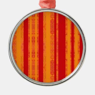 Ornement Rond Argenté orange