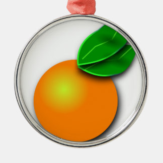 Ornement Rond Argenté Orange de la Floride