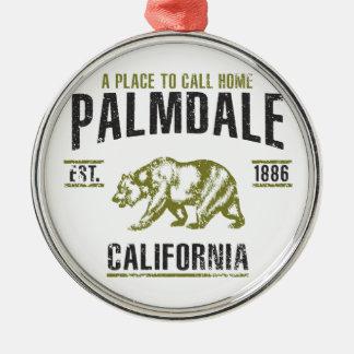 Ornement Rond Argenté Palmdale