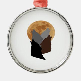 Ornement Rond Argenté Par la lumière de la lune