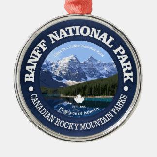 Ornement Rond Argenté Parc national de Banff (c)
