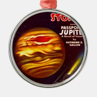 Ornement Rond Argenté Passeport à Jupiter