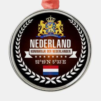 Ornement Rond Argenté Pays-Bas