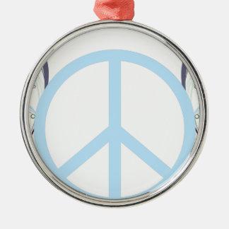 Ornement Rond Argenté peace3