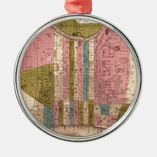 Ornement Rond Argenté Philadelphie 1838