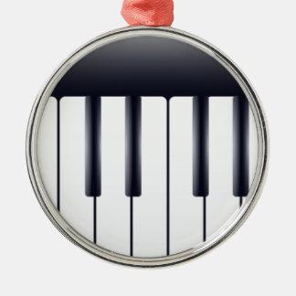 Ornement Rond Argenté Piano électrique