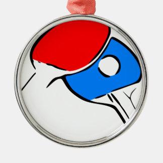 Ornement Rond Argenté Ping-pong
