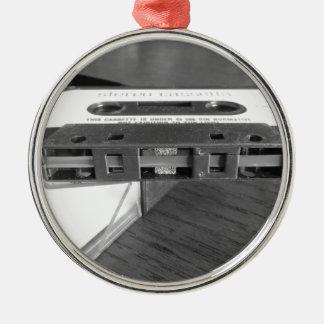 Ornement Rond Argenté Plan rapproché de bande magnétique de cassette