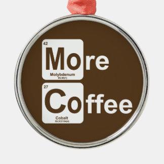 Ornement Rond Argenté Plus de Tableau périodique de café