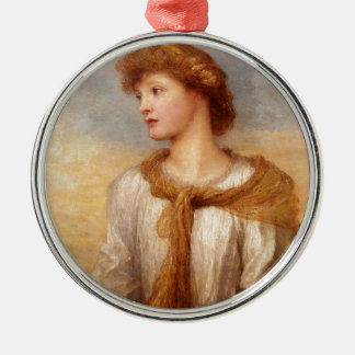 Ornement Rond Argenté Portrait de Mlle Lillian Macintosh