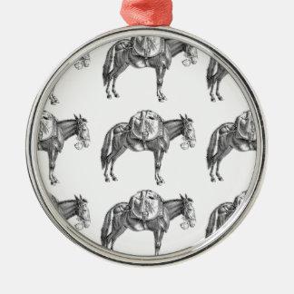 Ornement Rond Argenté prière de mule de paquet