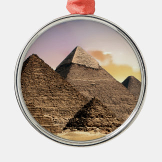 Ornement Rond Argenté pyramides