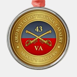 Ornement Rond Argenté quarante-troisième Bataillon, cavalerie de la