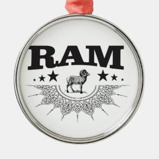 Ornement Rond Argenté RAM des moutons