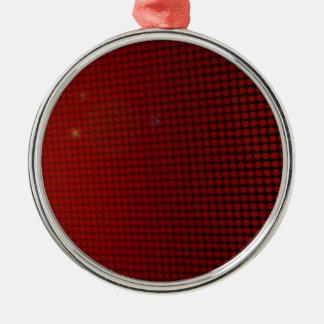 Ornement Rond Argenté red halo