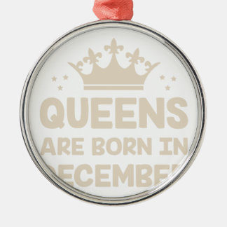 Ornement Rond Argenté Reine de décembre