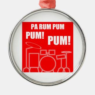 Ornement Rond Argenté Rhum Pum Pum Pum de PA