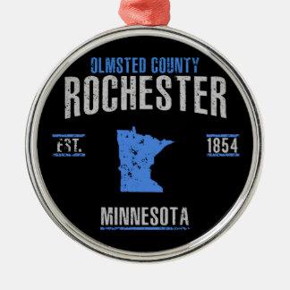 Ornement Rond Argenté Rochester