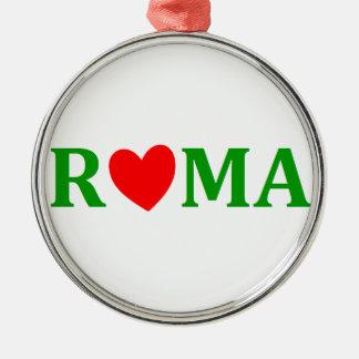Ornement Rond Argenté Rome ville éternelle