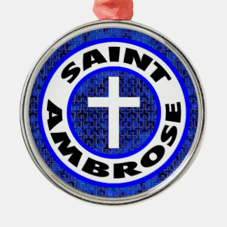 Ornement Rond Argenté Saint Ambrose