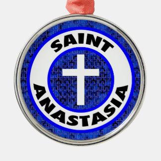 Ornement Rond Argenté Saint Anastasia