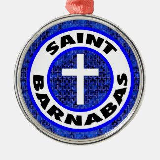 Ornement Rond Argenté Saint Barnabas