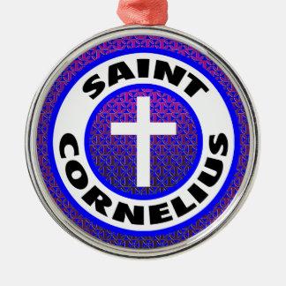 Ornement Rond Argenté Saint Cornélius