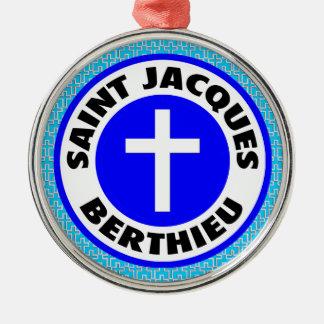 Ornement Rond Argenté Saint Jacques Berthieu