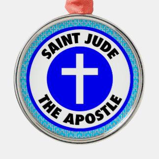 Ornement Rond Argenté Saint Judas l'apôtre