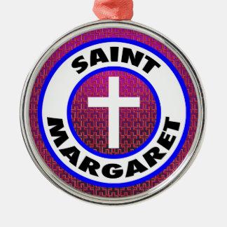 Ornement Rond Argenté Saint Margaret
