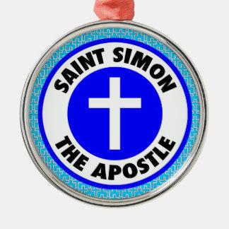 Ornement Rond Argenté Saint Simon l'apôtre